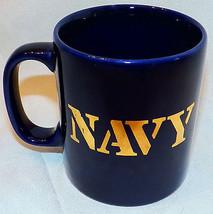 Vintage NAVY KilnCraft Staffordshire England Cobalt Blue Gold Anchor Cof... - $29.99