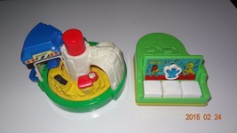 Lot of Two vintage baby toys, piano by Playskool and train spinner - $31.46