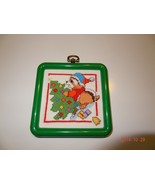 Finished Cross Stitch Christmas ornament of Raccoon decorating the tree - $25.25