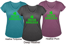 V Neck Tri Blend T Shirt Irish Hooligan St. Patrick's Day Size S, M, L - $29.99