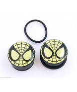 "PAIR-Spiderman DC Comics Glow Acrylic Single Flare Ear Plugs 22mm/7/8"" G... - $11.99"