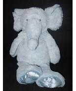 Jellycat Baby Blue Elephant Satin Feet Plush Stuffed Animal Love Heart Y... - $39.48