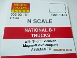 Micro-Trains Stock # 00302151 (1195) National B-1 Trucks Short Extension N-Scale image 2