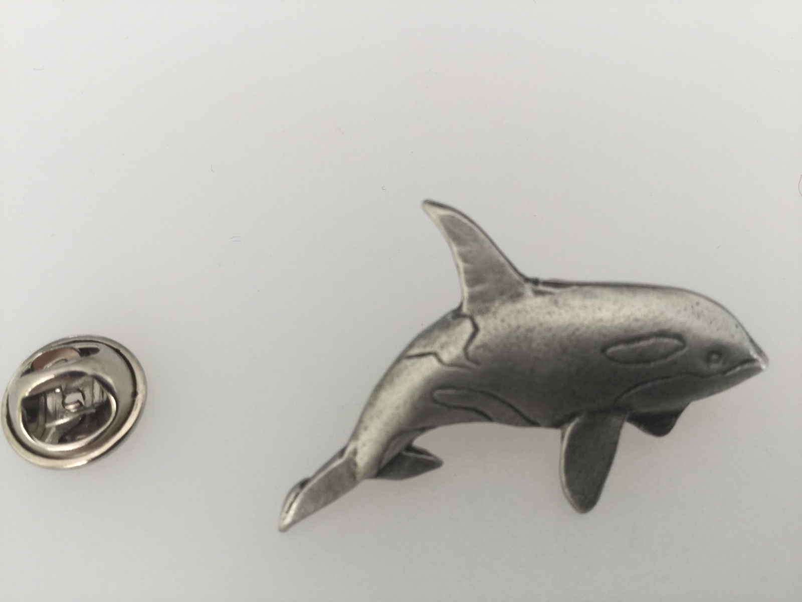 WHALE Hand Made in UK Pewter Lapel Pin Badge