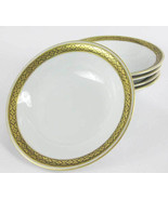 German Edelstein Baveria Sauce Fruit Bowls Gold  & Black Band (5) Patter... - $22.00