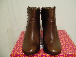 Tory burch women boots almond 90mm bootie tumbled ankle leather size 8.5 - $292.00