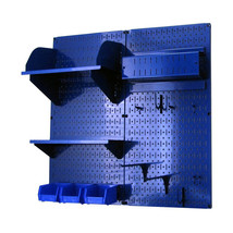 Craft Pegboard Organizer Storage Kit W/ Blue Pegboard And Blue Accessories - $148.39