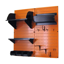 Craft Pegboard Organizer Storage Kit With Orange Pegboard And Black Acce... - $148.39