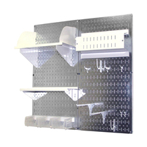 Craft Pegboard Organizer Storage Kit W/ Metallic Pegboard And White Accessories - $148.39
