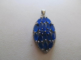. SAPPHIRE PENDENT , MARKED 925, NEW - £9.09 GBP