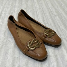 Aerosoles Womens High Bet Leather Closed Toe Slide Flats Size 7.5   7 1/2 Brown - $18.99
