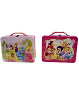 Walt Disney Princesses Large Carry All Tin Tote Lunchboxes Set of 2 NEW ... - $28.01