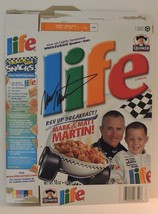 "2001 MARK MARTIN & MATT MARTIN #6 ""LIFE"" LIMITED EDITION CEREAL BOX SIGNED - $75.00"