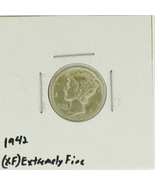 1942 United States Mercury Dime 90% Silver Rating: (XF)  Extremely Fine  - $36,59 MXN