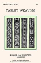 c1930 Inkle Loom Book Card Tablet Weaving 16 Patterns DIY Braclets Anklets Bands - $12.99