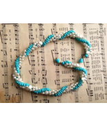 Avon Turquoise and White Impressions Torsade Vintage 18in Necklace Plus ... - $25.00