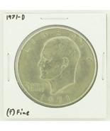 1971-D Eisenhower Dollar RATING: (F) Fine N2-2512-9 - €1,79 EUR