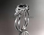 Leafring330 white gold  platinum  diamond wedding ring  diamond engagement ring  black diamond  1 thumb155 crop