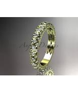 Bridal ring,14kt yellow gold diamond engagement ring, wedding band, eter... - $1,425.00