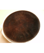 """Pillar Candle Holder 6"""" Round Plate Pier 1 Style Mahogany Brown - $9.99"""