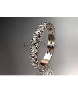 Unique Bridal ring14kt rose gold diamond  engagement ring, wedding band,... - $1,425.00
