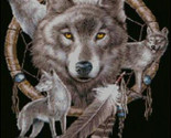 Dreamcatcher and wolves cross stitch pattern thumb155 crop