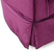 Cecilia Fuchsia New Velvet Swivel Chair - $380.23