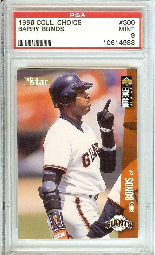 Primary image for 1996 ud collector choice barry bonds psa 9 san francisco giants graded baseball