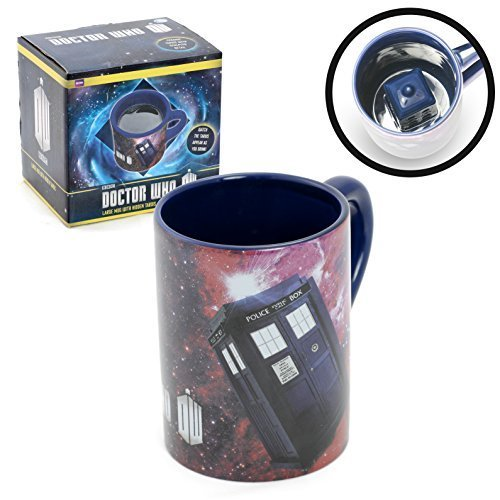 Primary image for Doctor Who Coffee Mug with Hidden TARDIS, 12 Oz.