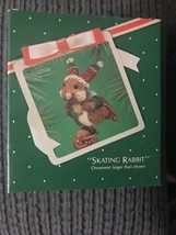 Hallmark keepsake Skating Rabbit Christmas Ornament 1983 Ice Skating - $7.95