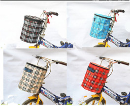 New Bike Bicycle Front Folded Handlebar Canvas Storage Basket Carrier - €15,96 EUR