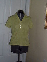 Caribbean Joe Knit Top Shirt Size S  Green Msrp: $34.00 Nwt - $16.14