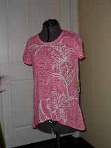 Caribbean Joe Knit Top Shirt Size S Pink Msrp:$36.00 Nwt - $15.99