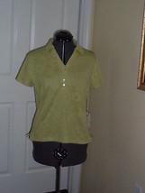 Caribbean Joe Knit Top Shirt Size Pl  Green Msrp: $34.00 Nwt - $16.98