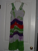 ETC. SUNDRESS SIZE L RAINBOW LACE LIGHTWEIGHT NWT - €14,24 EUR