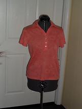 Caribbean Joe Knit Top Shirt Size S Peach Msrp: $34.00 Nwt - $16.98
