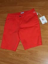 Caribb EAN Joe Bermuda Walking Shorts Size 10P Stretch Red MSRP:$42.00 Nwt - $16.99