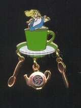 Alice In Wonderland Tea Party - Dangle Authentic Disney Pin No Card - $29.99