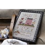 Eliza Ann Scott 1847 Sampler cross stitch chart Dames of The Needle - $6.50