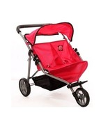 Double Umbrella Stroller Baby Doll Twin Push Chair Jogging Toy 3 Wheels ... - $64.68