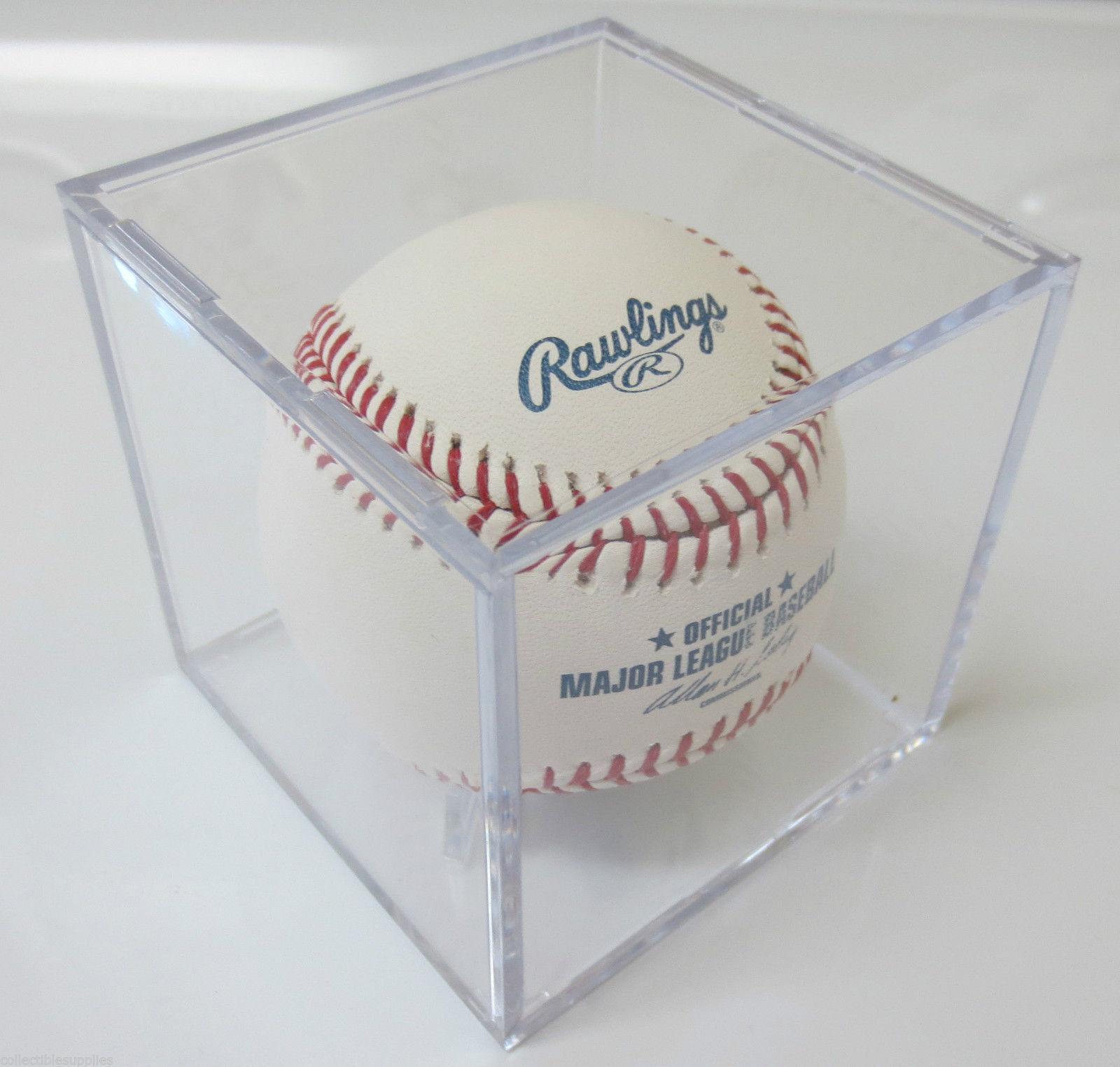 6 UV Protected Square Baseball Ball Holder Display Case