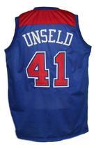 Wes Unseld #41 Baltimore Washington Retro Basketball Jersey New Blue Any Size image 5