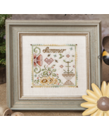 The Summer Flower cross stitch chart Jeanette Douglas Designs - $10.80