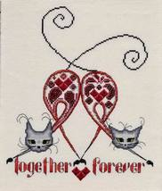 Cats Together Forever cross stitch chart MarNic Designs  - $7.20