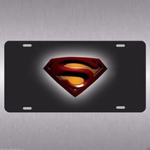 Superman Aluminum Vanity License Plate Tag Man of Steel Gotham Black Kni... - $14.99
