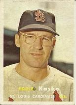 1957 Topps Eddie Kasko 363 Cardinals VG - $1.50