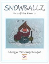 Snowballz Snowflake Farmer cross stitch chart CM Designs  - $7.65