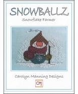 Snowballz Snowflake Farmer cross stitch chart CM Designs  - $7.65