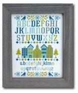 Village Sampler cross stitch chart Tiny Modernist Inc - $9.00