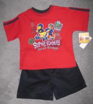 BOYS 3T - Disney- Winnie the  Pooh & Tigger Super Sleuths Shorts & Shirt... - $14.00